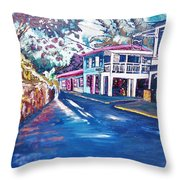 Tortola  Main Street Throw Pillow