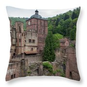 Torturm And Seltenleer Heidelberger Schloss Throw Pillow