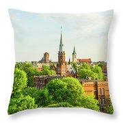 Torun Old Town Throw Pillow