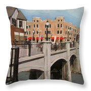 Tosa Village Bridge Throw Pillow