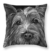 Tosha The Highland Terrier Throw Pillow