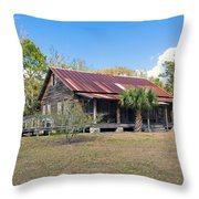 Tosohatchee Cattle Ranch In Central Florida Throw Pillow