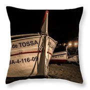 Tossa De Mar By Night Throw Pillow