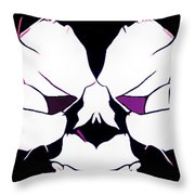 Total Eclipse Of The Rose Abstract Throw Pillow