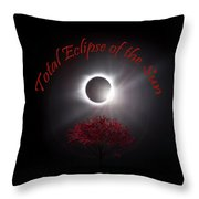 Total Eclipse Of The Sun In Art Throw Pillow
