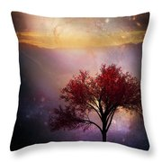 Total Eclipse Of The Sun Tree Art Throw Pillow