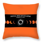 Total Solar Eclipse Stages Throw Pillow