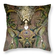 Totem Caribou  Throw Pillow