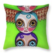 Totem Dolls Throw Pillow