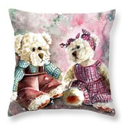 Toto Et Lolo Throw Pillow