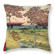 Toto Meguro Yuhhigaoka - Sunset Hill Meguro In The Eastern Capitol Throw Pillow