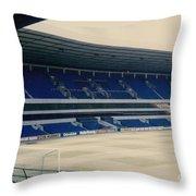 Tottenham - White Hart Lane - West Stand 3 - 1980s Throw Pillow