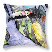 Toucan Bird Tropical Painting Fine Modern Art Print Throw Pillow