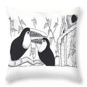 Toucans Central Park Throw Pillow