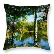 Touch Of Autumn Throw Pillow