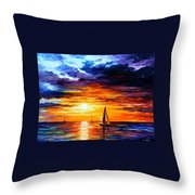 Touch Of Horizon Throw Pillow