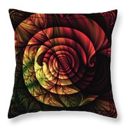 Touch Of Sunshine Abstract Throw Pillow