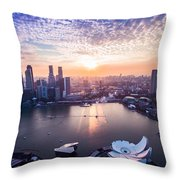 Touch Of Warm Hues Throw Pillow
