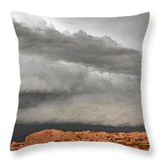 Touch The Clouds Throw Pillow by Christine Till