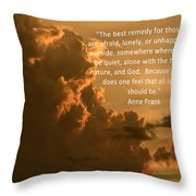 Touch The Heavens Throw Pillow