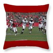Rutgers Touchdown - Janarion Grant Throw Pillow
