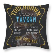Touchdown Tavern Throw Pillow