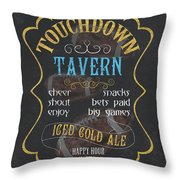 Touchdown Tavern Throw Pillow