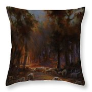 Touched By Light Throw Pillow