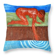 Touching The Stream Of Consciousness Throw Pillow