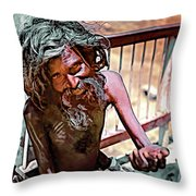 Tough As It Gets...paint Throw Pillow