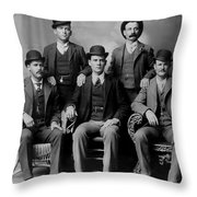 Tough Men Of The Old West 2 Throw Pillow
