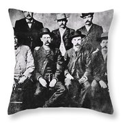 Tough Men Of The Old West Throw Pillow