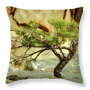 Tough Upbringing Throw Pillow
