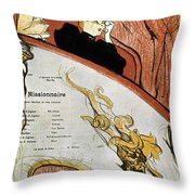 Toulouse-lautrec, 1893 Throw Pillow
