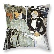 Toulouse-lautrec: Menu Throw Pillow