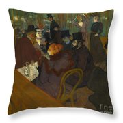 Toulouse-lautrec Moulin Rouge Throw Pillow