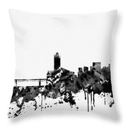 Toulouse Skyline-black Throw Pillow