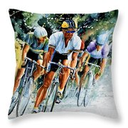 Tour De Force Throw Pillow