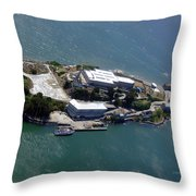 Tour Of Alcatraz Throw Pillow