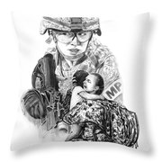 Tour Of Duty - Women In Combat Le Throw Pillow
