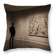 Touring The Met Throw Pillow