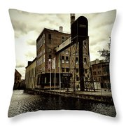Tourist Office Norrkoping In Old Effect Throw Pillow