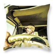 Tourist Sightseeing In Van Throw Pillow
