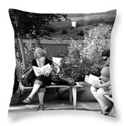 Tourists At Rest Throw Pillow