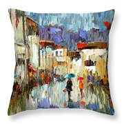 Tourists Throw Pillow