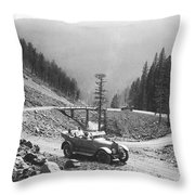 Tourists In Yellowstone Throw Pillow