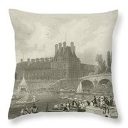 Tournay On The Seine During The July Fetes Throw Pillow