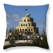 Tovrea's Castle Phoenix Throw Pillow