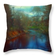 Toward The City Lights Throw Pillow