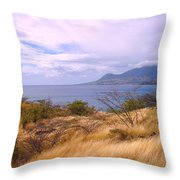Towards Basseterre Throw Pillow